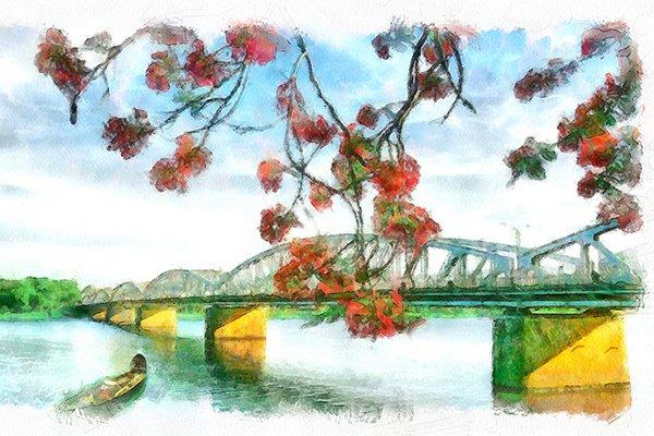 Sông Hương sống chậm