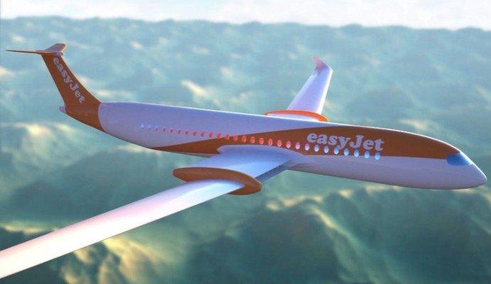 Mô hình máy bay điện có khả năng chở 180 người của hãng hàng không giá rẻ EasyJet (Anh). Ảnh: CNN Business